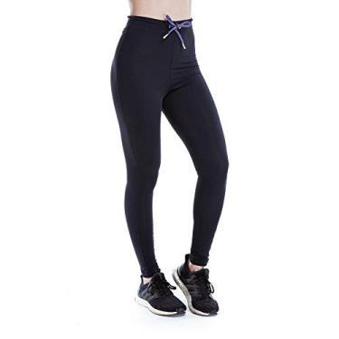 Legging Feminina Funfit - Pantone Cadarço Roxo M