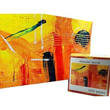 Imagem de Quebra-cabeça dificil para adultos linha Abstract Secret 252 peças - Yellow