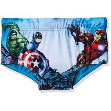 Sunga Avengers, Tip Top, Meninos, Azul (Turquesa Medio), 4