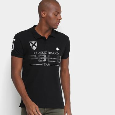 2ed702ab22c7d Camisa Polo RG 518 Piquet Estampada Bordado Masculina - Masculino