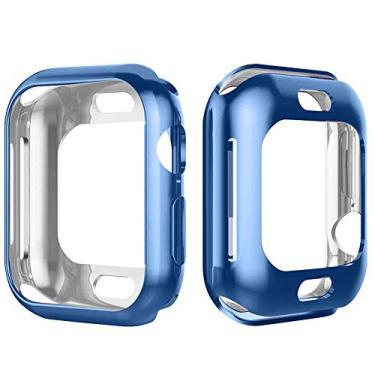 Capa Lisa Para Apple Watch Series 1 2 3 4 tamanho 42mm azul