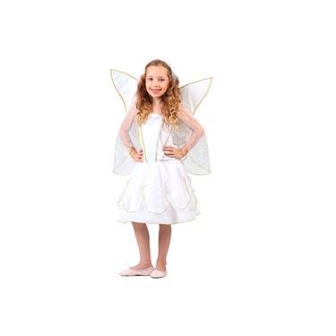 Imagem de Fantasia de Anjo Infantil Com Asas e tiara