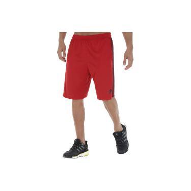 Bermuda adidas D2M 3S S17 - Masculina - Vermelho Preto adidas 0c439b9453f9d