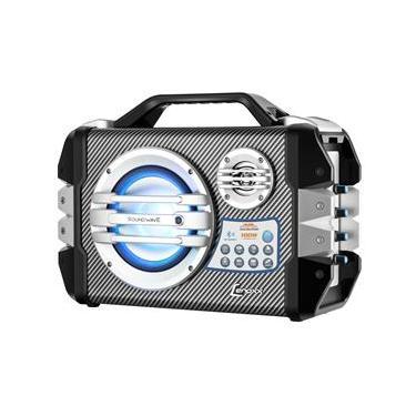 Caixa Amplificada Lenoxx CA-305 com Conexão Bluetooth, Função Karaokê, Entrada Micro USB e Microfone Sem Fio – 100W