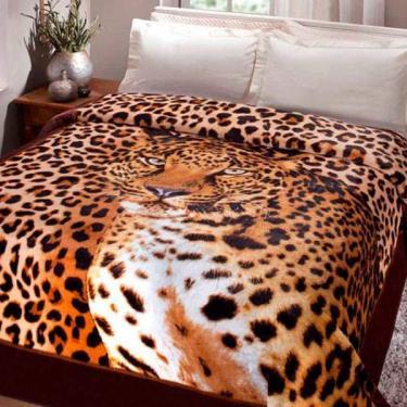 Cobertor Casal Jolitex 1,80x2,20m Leopardo