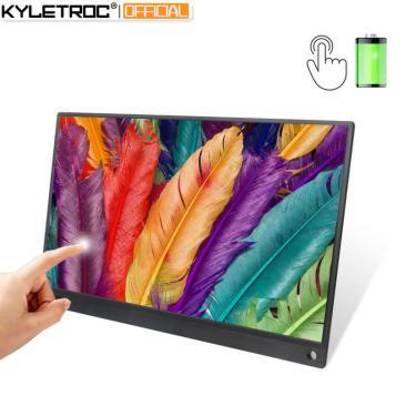 Kyletroc 15.6 polegadas bateria portátil, touch screen usb c hdmi monitor de jogo para samsung dex, 234482446
