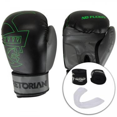 Kit de Boxe Pretorian: Bandagem + Protetor Bucal + Luvas de Boxe First - 14 OZ - Adulto Pretorian Unissex