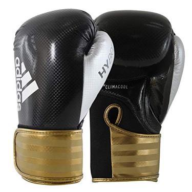 Luva de Boxe Adidas Hybrid 65 - Preto e Dourado-10oz