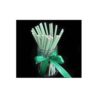 500 Canudos de Papel Biodegradável Embalado 6x197mm
