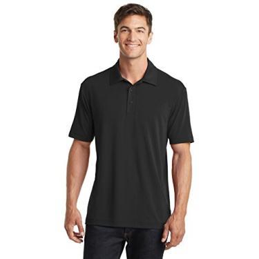Camisa polo masculina Port Authority Touch Performance 4GG preta