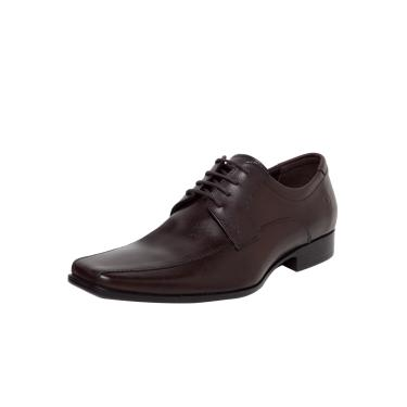 Sapato Social Couro Democrata Premier Marrom Democrata 206285-002 masculino