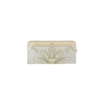Bolsa Carteira(clutch) Em Couro Legitimo Off/dourada