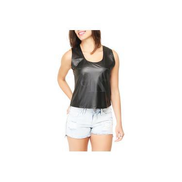 Blusa Cropped Calvin Klein Jeans Logo Frontal