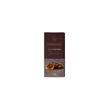 Barra de Chocolate Meio Amargo Havanna com Recheio Doce de Leite 100g