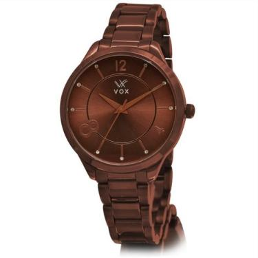 b43221c2817 Relogio Feminino VOX Salt Lake City Caixa Metal na Cor Chocolate