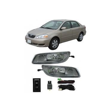 Kit Farol de Milha Neblina Toyota Corolla 2005 / 2006 / 2007 / 2008 - Interruptor Modelo Original