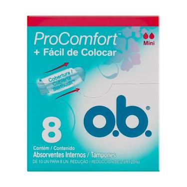 Absorvente Interno OB ProComfort Mini 8 Unidades
