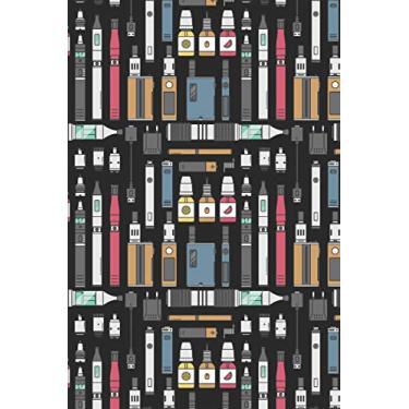 Imagem de Vape Pattern E-Cigarette Decoration 07: Blank Lined Notebook for Vaper and Steamer