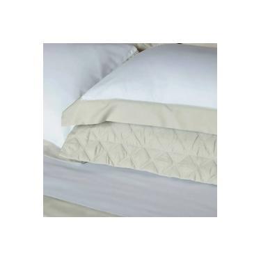 Imagem de jogo de cama queen scavone 300 fios 100% algodão villandry caqui
