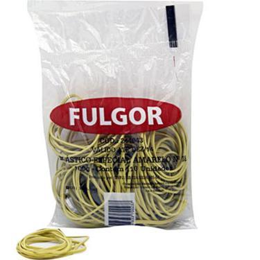 Elástico Para Dinheiro Nº 18 Amarelo 100 Gr Fulgor 131401