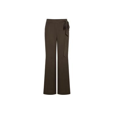 Calça Feminina Social Pantalona Viscose com Amarração na Cintura Seiki 350269