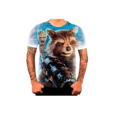 Queima De Estoque Camiseta Camisa Groot Rocket Guardiões
