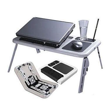 Imagem de Mesa Notebook Com 2 Coolers Usb Dobrável Cama Sofa E-Table