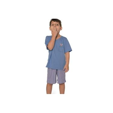 Pijama Curto Infantil Kid Dog DeMillus 220505 Azul Céu