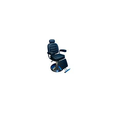 Imagem de Cadeira de Barbeiro e Cabeleireiro Reclinável com Hidráulico Base - Preto