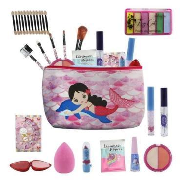 Imagem de Kit Infantil De Maquiagens E Itens De Beleza Para Maleta Bz81 - Bazar