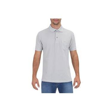 Camisa Polo Masculina Cinza Claro - Wayna d12a91d291593