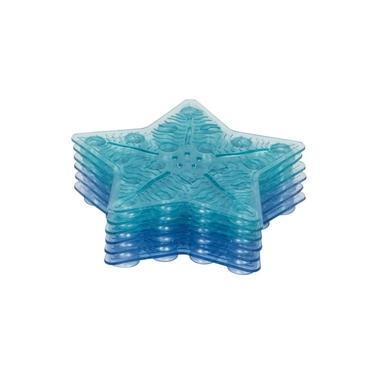 Imagem de Tapete de banho antiderrapante mini com 6 peças Azul