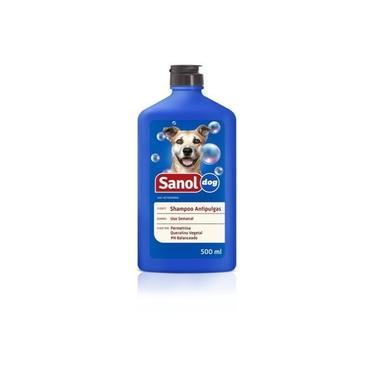 Shampoo Anti pulgas para Cachorro Sanol Dog 500ml - Shampoo Para Eliminar e previnir pulgas em cães