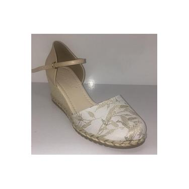 Sapato Fem. Bebecê Espadrille Branco/Bege- 5814-549