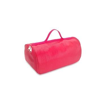 Imagem de Bolsa Porta Vinho Triplo Couro Vermelho