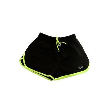 Shorts Sprint Feminino - Rudel Sports - Preto/Amarelo