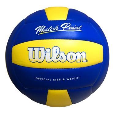 Bola De Volei Wilson Match Point Azul E Amarela