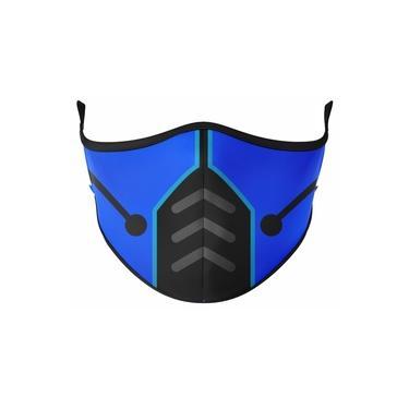 Máscara Antibacteriana Lavável Mortal Kombat Sub Zero - Adulto