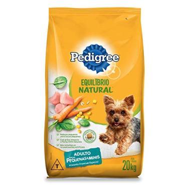 Ração Pedigree Equilíbrio Natural para Cães Adultos de Raças Pequenas 20 kg