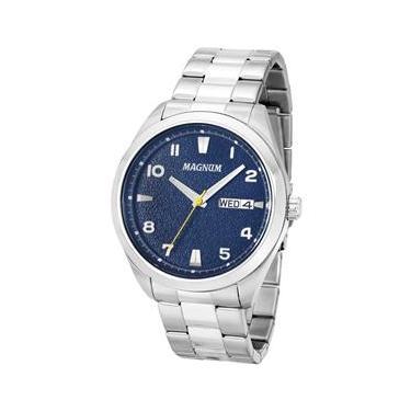 ea6ec441bb7 Relógio Masculino Analógico Magnum MA34923F - Prata
