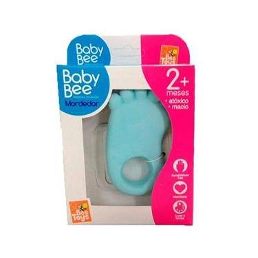 Mordedor Pé Pezinho Para Bebê Atóxico - Azul - Bee Toys