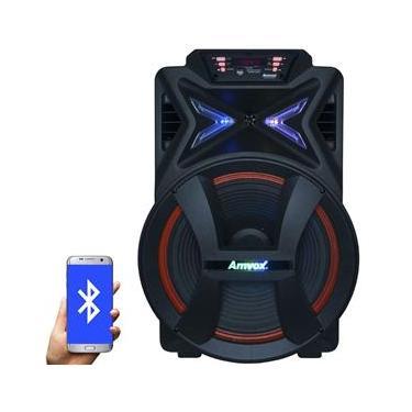Caixa Som Amplificada Portátil Bluetooth 500W Rms Mp3 Fm Usb Aux Led Bateria Tws