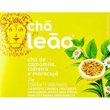 Chá de Camomila, Cidreira e Maracujá Leão Fuze com 15 Saquinhos