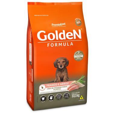 Ração Para Cachorro Filhote Raças Pequenas Golden Fórmula Frango E Arroz 10,1Kg