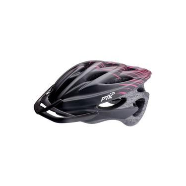 Imagem de Capacete Ciclismo Runner Ptk Bike Mtb Speed Preto/Rosa