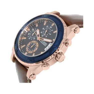 Relógio Feminino Guess Brown And Rose Tom Ouro Dourado Em Couro Sport Watch 971d451cd4