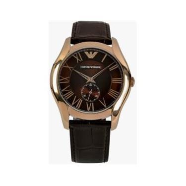 db4f20a82f2 Relógio Masculino Emporio Armani Modelo AR1705 Pulseira em Couro   A prova  d  água