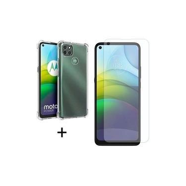 Capa Capinha Anti Impacto + Pelicula de vidro 9h Comum Para Motorola Moto G9 Power Russo Shop