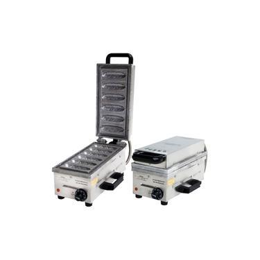 Crepeira Elétrica 6 Cavidades 1700W Inox - Ademaq