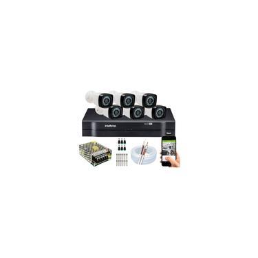 Imagem de Kit 6 Cameras Segurança Full Hd Dvr Intelbras 8 Canais s/ Hd